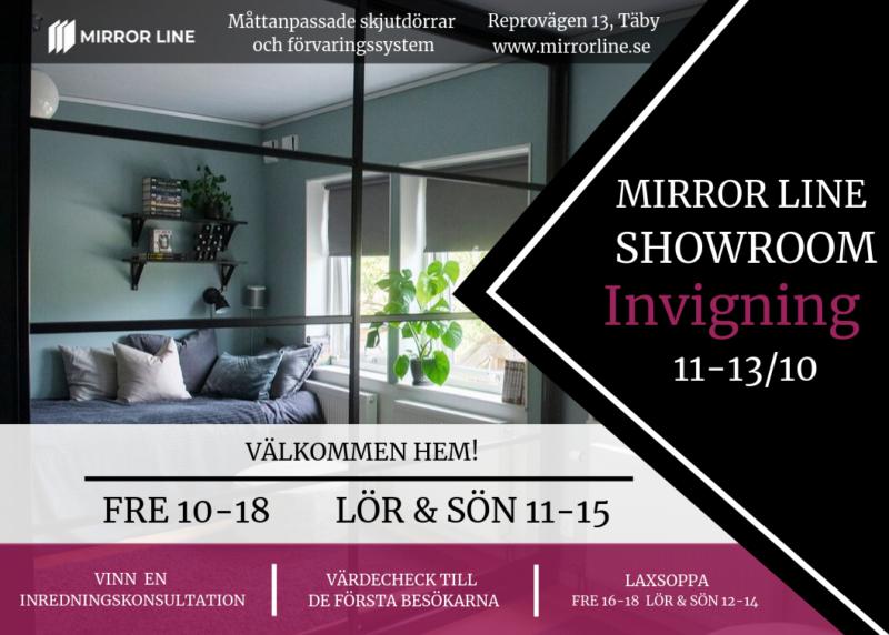 Mirror Line Showroom invigning